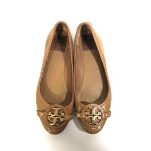 Tory Burch Women Brown Slip On Loafers Size 9 M